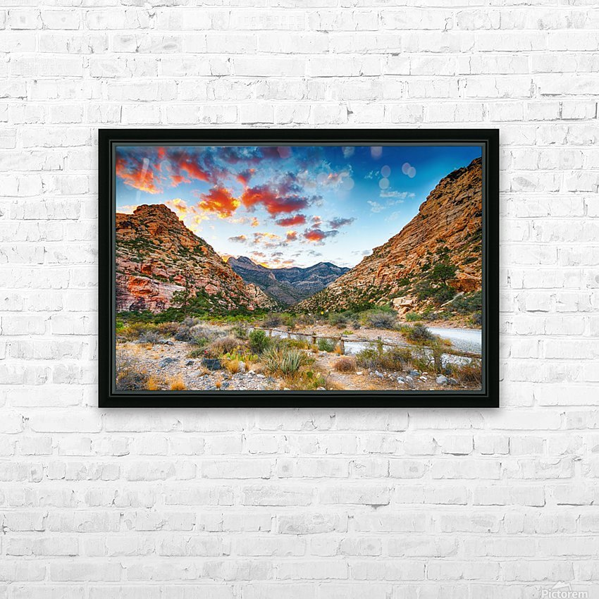 Sunset at Red Rock Canyon Nevada   HD Sublimation Metal print with Decorating Float Frame (BOX)