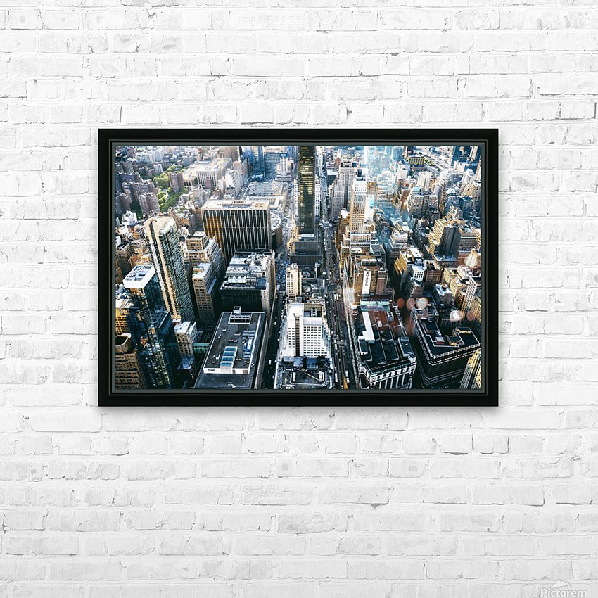 New York city Skyline View  HD Sublimation Metal print with Decorating Float Frame (BOX)
