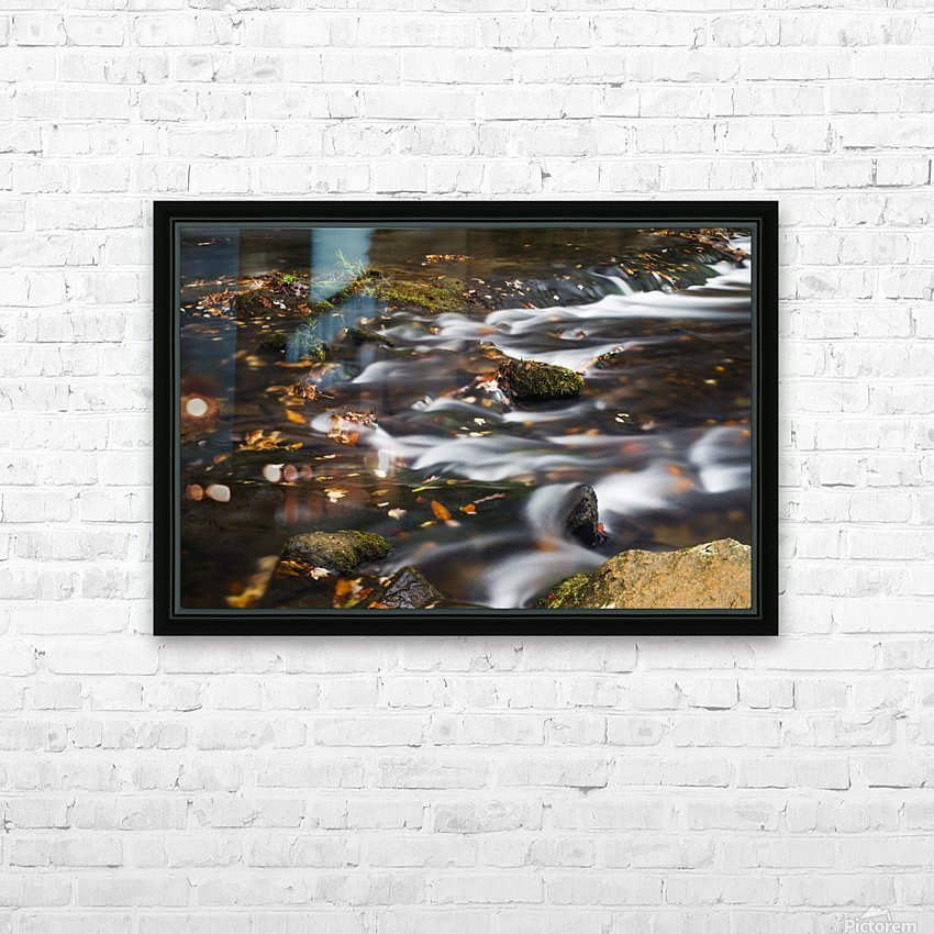 River Flow in Smokey Mountains HD Sublimation Metal print with Decorating Float Frame (BOX)