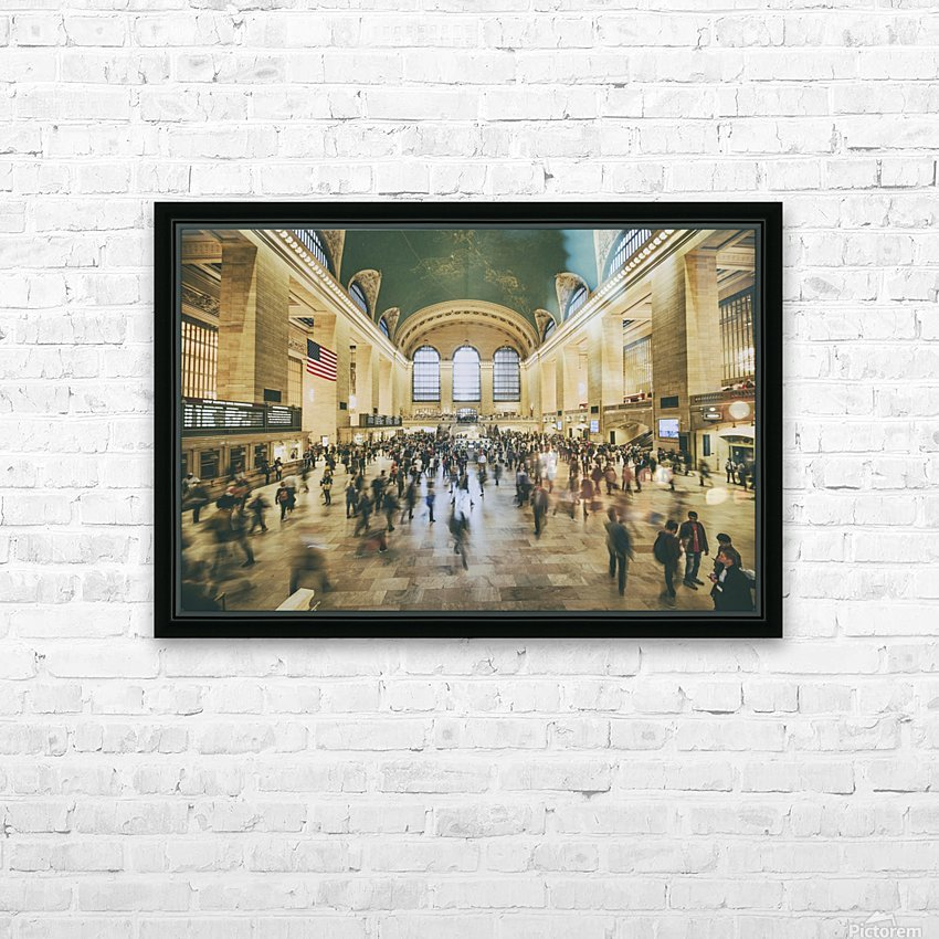 Grand Central Station HD Sublimation Metal print with Decorating Float Frame (BOX)