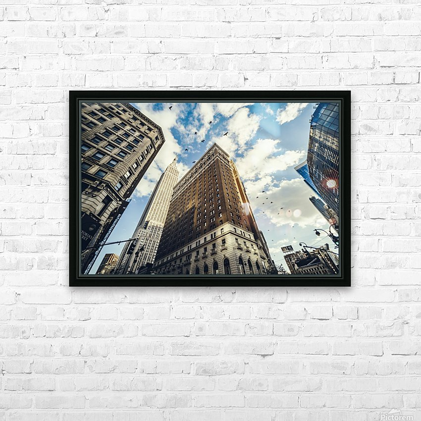 New York Sky HD Sublimation Metal print with Decorating Float Frame (BOX)