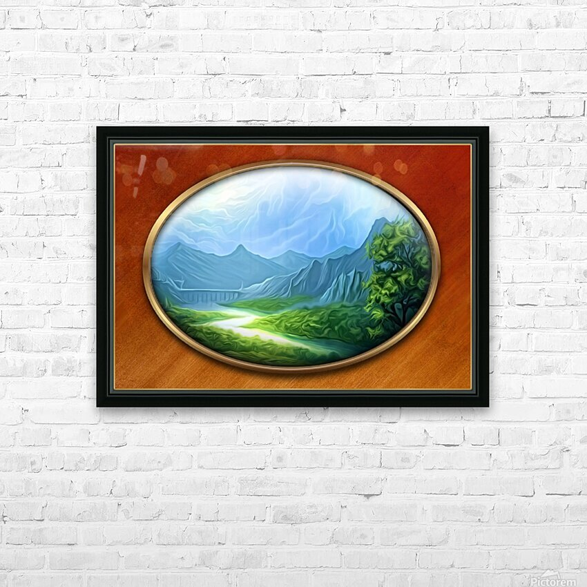 Landscape12 HD Sublimation Metal print with Decorating Float Frame (BOX)