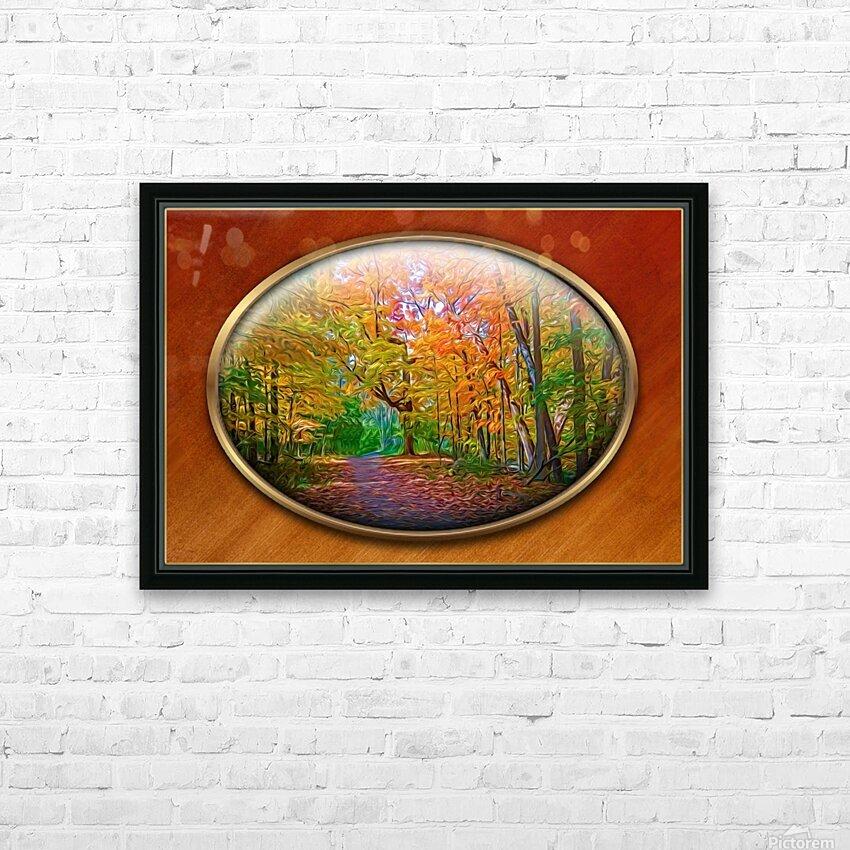 Landscape 15 HD Sublimation Metal print with Decorating Float Frame (BOX)