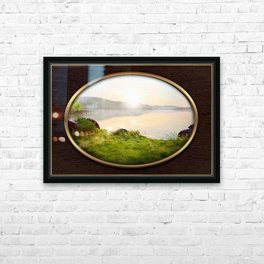 Landscape 13 HD Sublimation Metal print with Decorating Float Frame (BOX)
