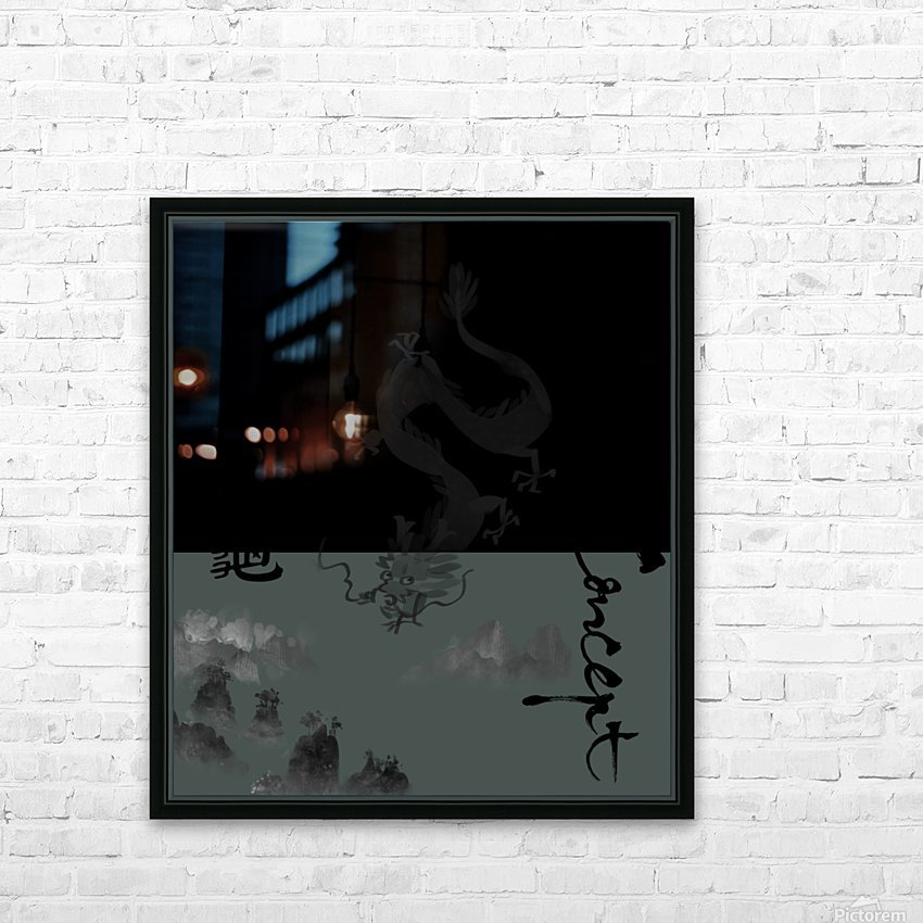 Chinese Concept 52A HD Sublimation Metal print with Decorating Float Frame (BOX)