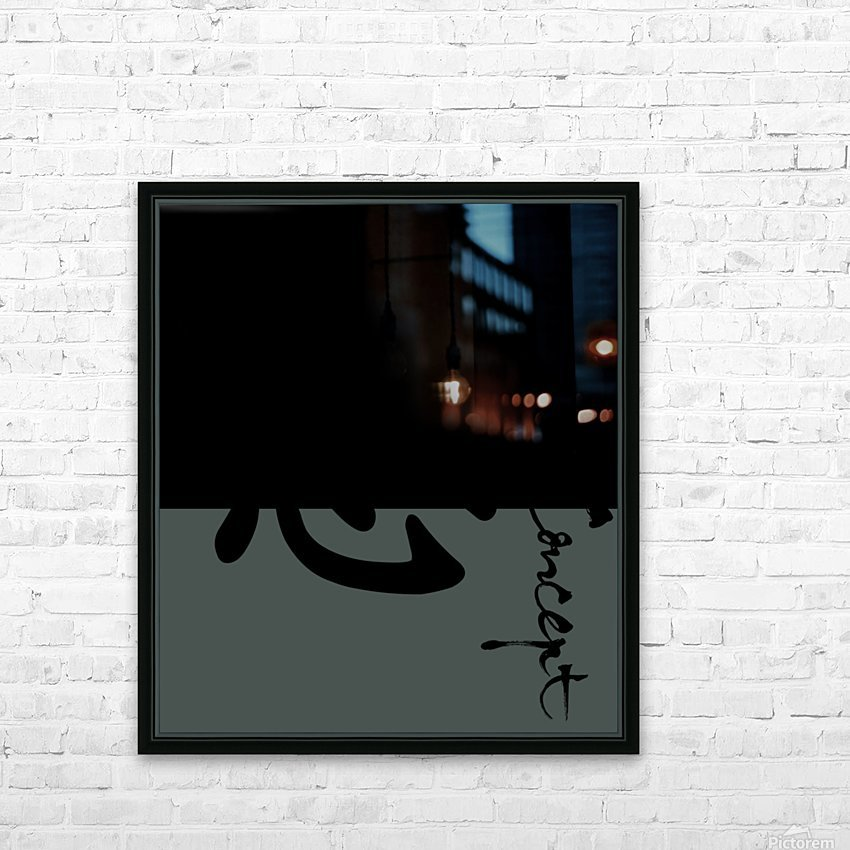 Chinese Concept 53A HD Sublimation Metal print with Decorating Float Frame (BOX)