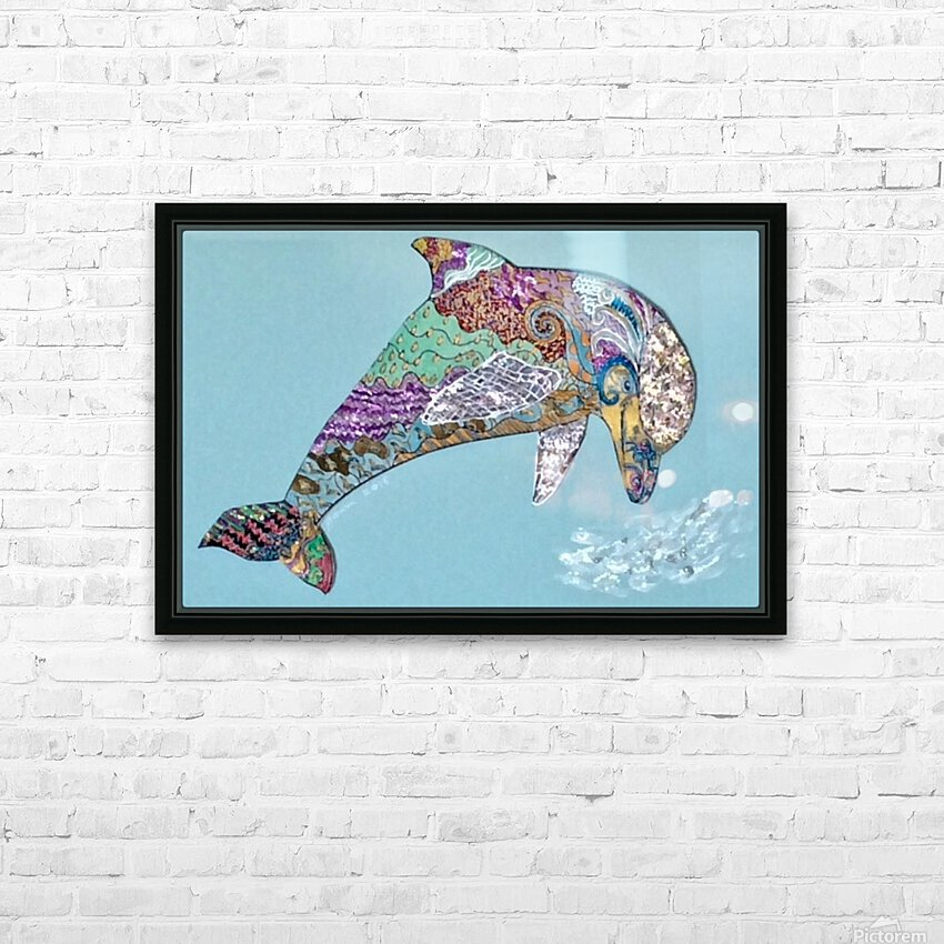 Delphinus  HD Sublimation Metal print with Decorating Float Frame (BOX)
