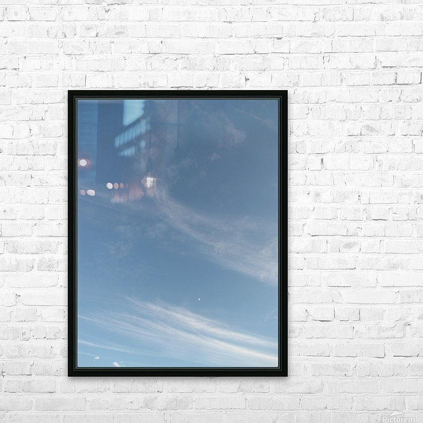 Moon at 9 HD Sublimation Metal print with Decorating Float Frame (BOX)