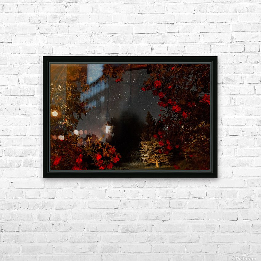 Roses and Stars  HD Sublimation Metal print with Decorating Float Frame (BOX)