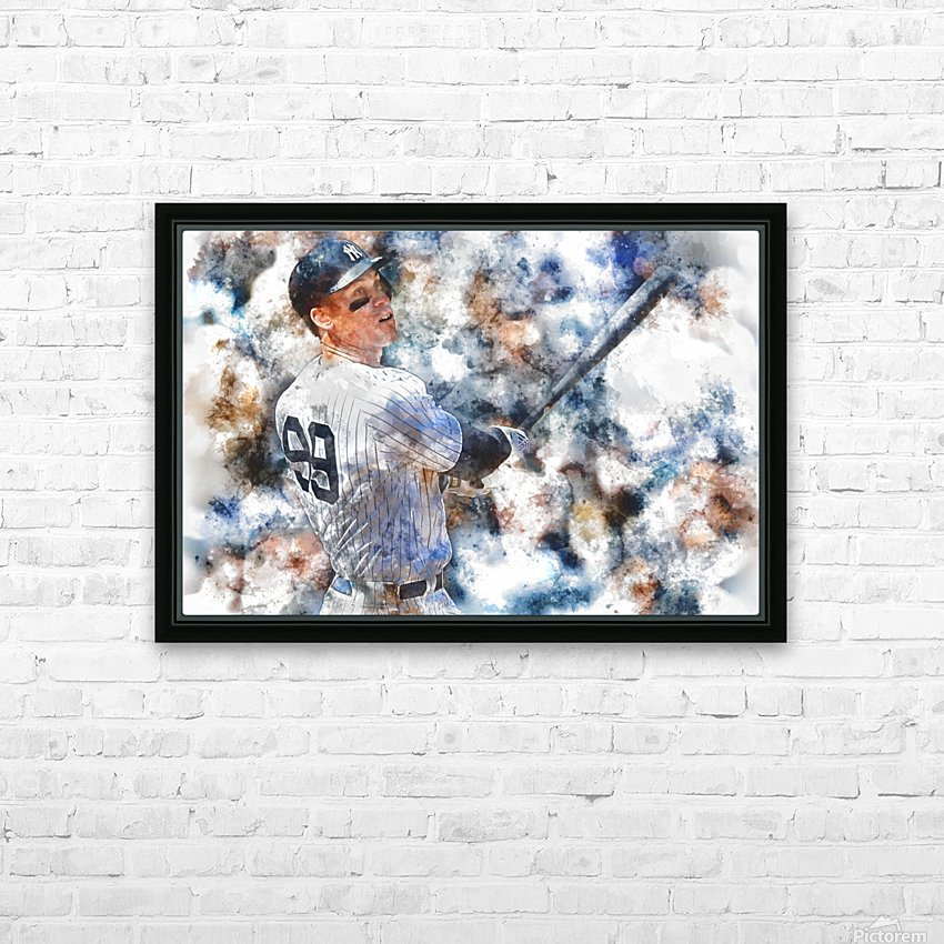 AARON JUDGE Water Color Print - New York Yankees print HD Sublimation Metal print with Decorating Float Frame (BOX)