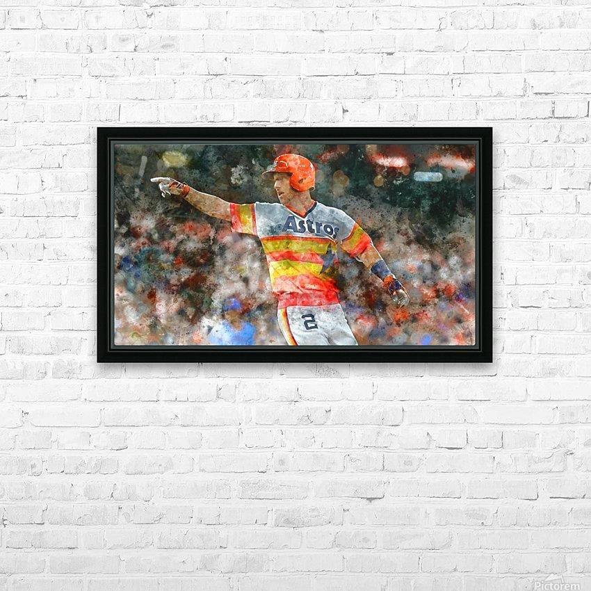 ALEX BREGMAN Water Color Print - Houston Astros print  HD Sublimation Metal print with Decorating Float Frame (BOX)