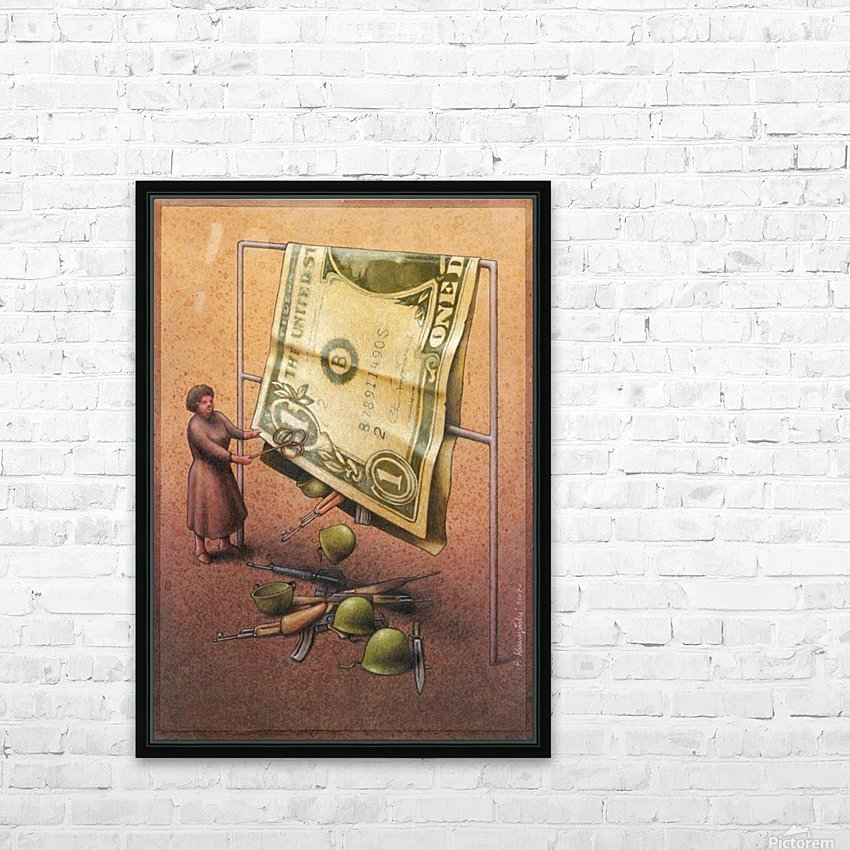 Dollar HD Sublimation Metal print with Decorating Float Frame (BOX)