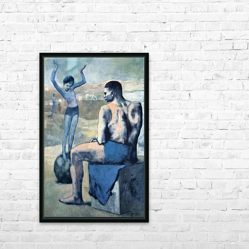 Pablo Picasso. Girl on the Ball HD 300ppi HD Sublimation Metal print with Decorating Float Frame (BOX)