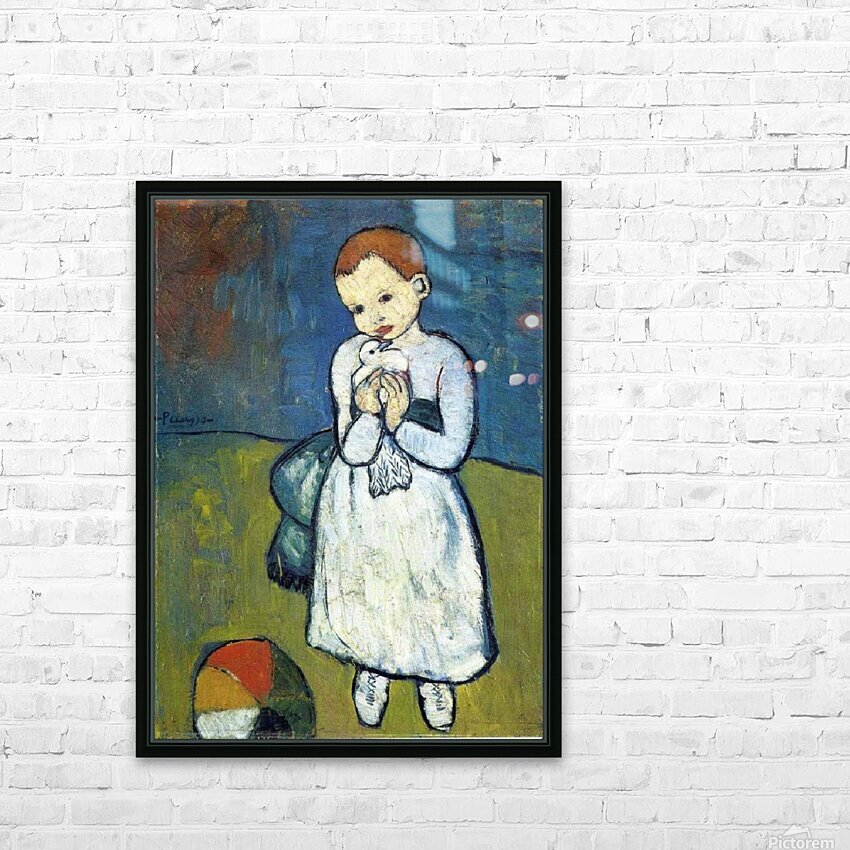Pablo Piccaso. Child with Dove HD 300ppi HD Sublimation Metal print with Decorating Float Frame (BOX)