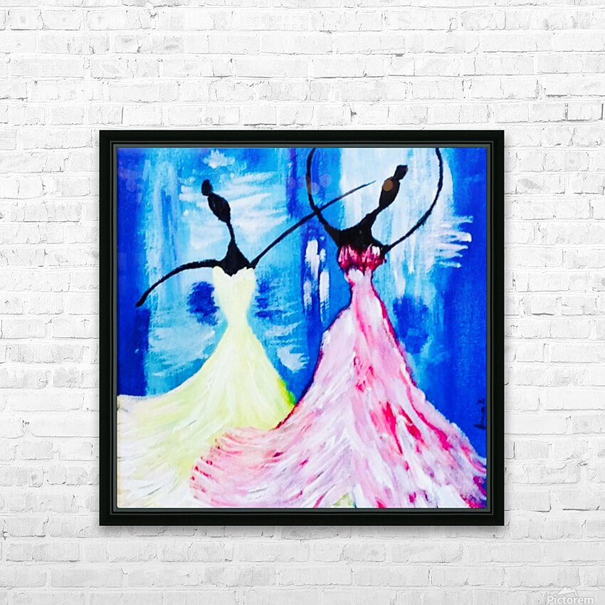 lets Dance  HD Sublimation Metal print with Decorating Float Frame (BOX)