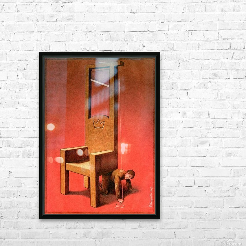 Throne HD Sublimation Metal print with Decorating Float Frame (BOX)