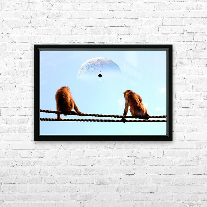 blue moon keys HD Sublimation Metal print with Decorating Float Frame (BOX)