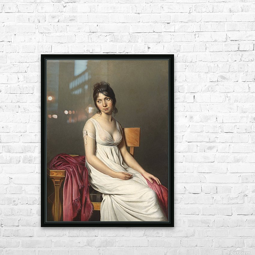 A woman standing HD Sublimation Metal print with Decorating Float Frame (BOX)