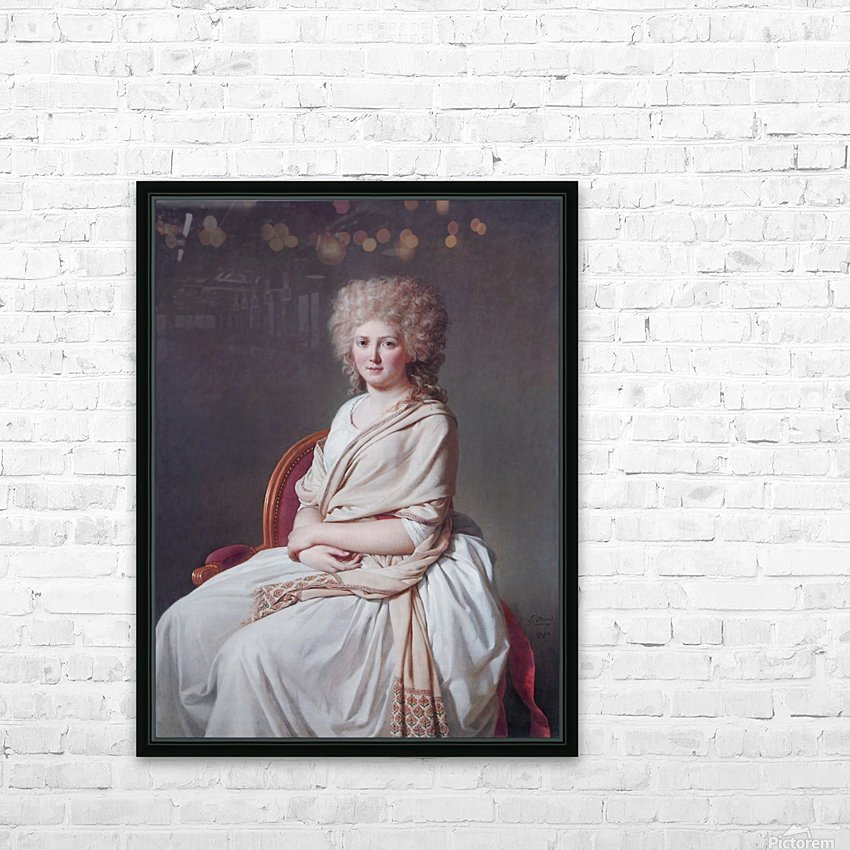 Portrait of Anne Marie HD Sublimation Metal print with Decorating Float Frame (BOX)