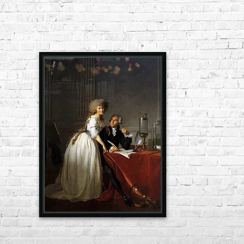 Portrait of Antoine Laurent and Marie Anne Lavoisier HD Sublimation Metal print with Decorating Float Frame (BOX)