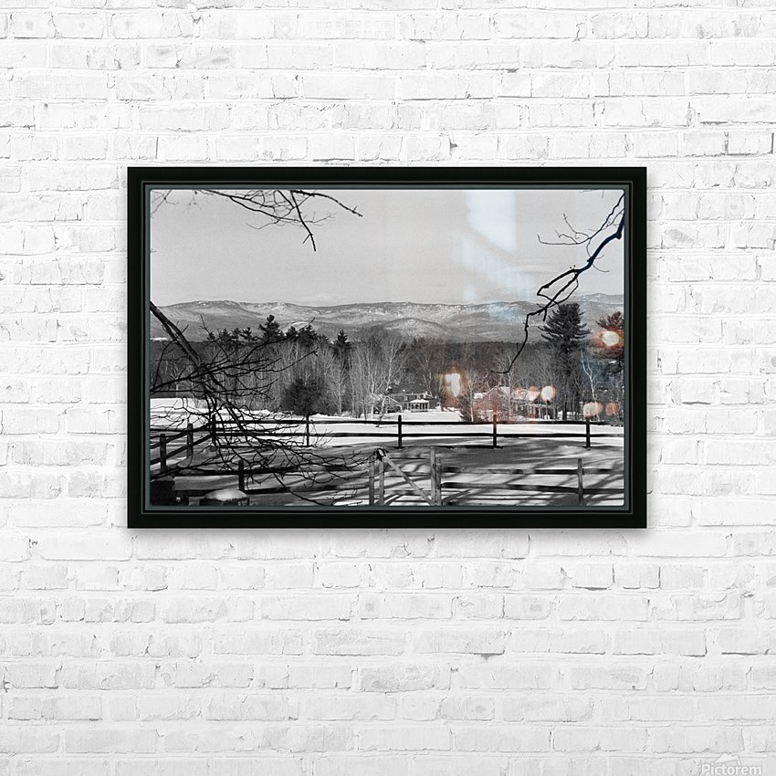 White Mountains - New Hampshire HD Sublimation Metal print with Decorating Float Frame (BOX)
