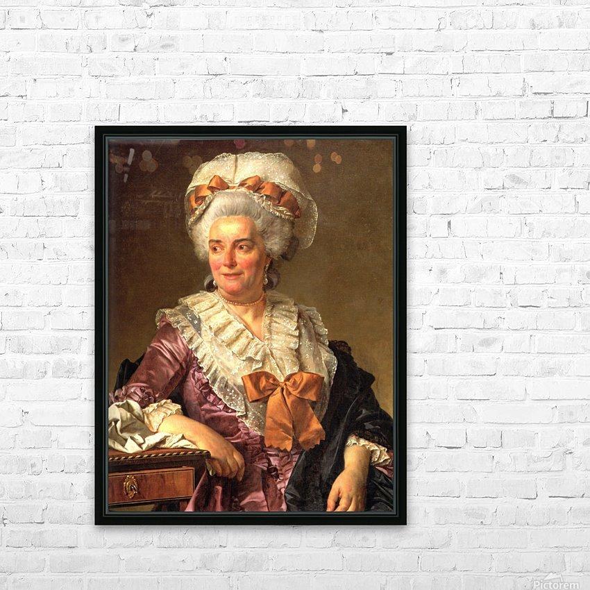 Portrait of Genevieve Jacqueline Pecoul HD Sublimation Metal print with Decorating Float Frame (BOX)