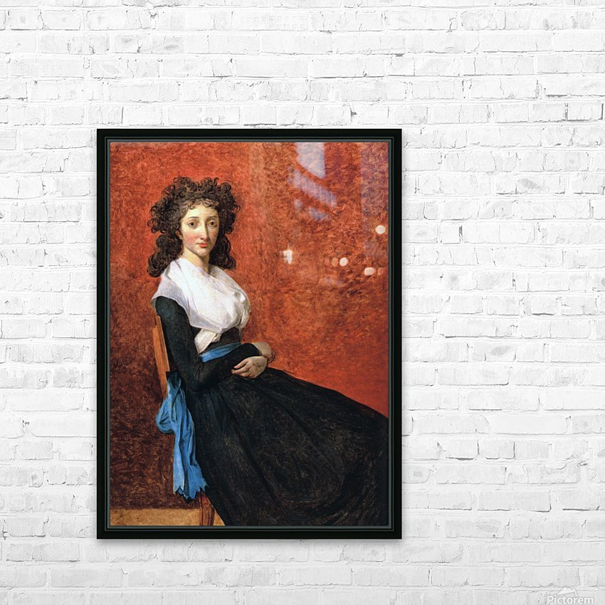 Portrait of madame charles louis trudaine 1792 HD Sublimation Metal print with Decorating Float Frame (BOX)