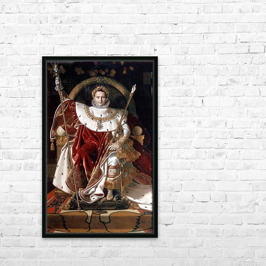 Napoleon on his imperial throne HD Sublimation Metal print with Decorating Float Frame (BOX)