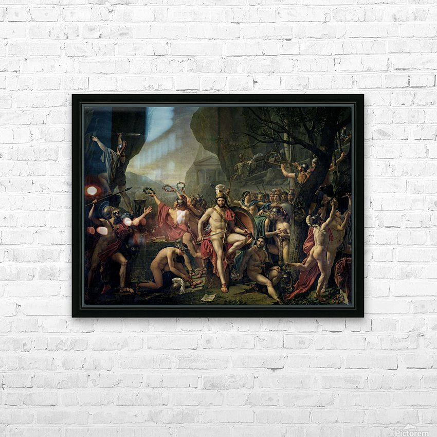 Leonidas at Thermopylae HD Sublimation Metal print with Decorating Float Frame (BOX)