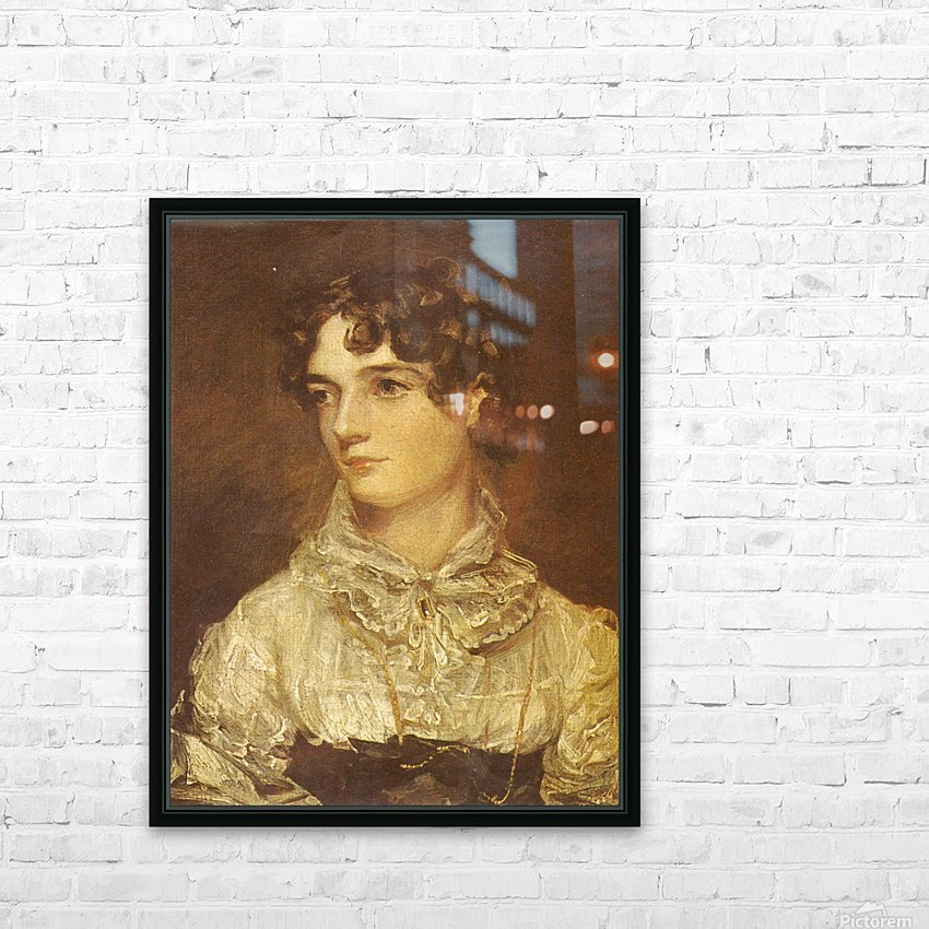 Portrait of a young woman HD Sublimation Metal print with Decorating Float Frame (BOX)