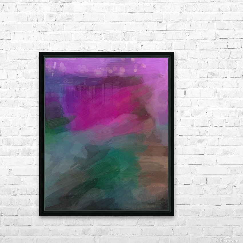 Magenta and Green HD Sublimation Metal print with Decorating Float Frame (BOX)