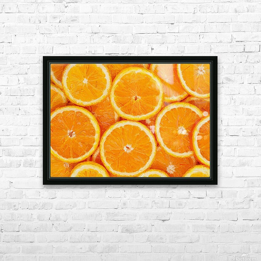 orange HD Sublimation Metal print with Decorating Float Frame (BOX)