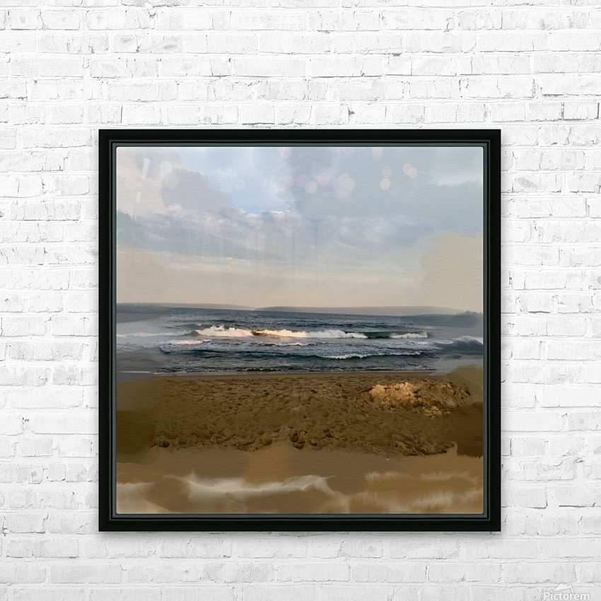 The Surf at Sunset HD Sublimation Metal print with Decorating Float Frame (BOX)