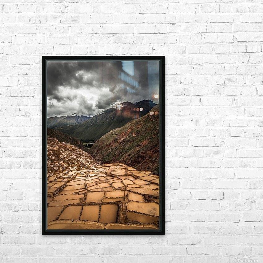Maras Salt Mines HD Sublimation Metal print with Decorating Float Frame (BOX)