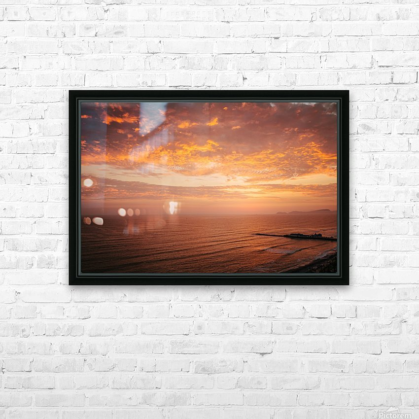 Lima Sunset HD Sublimation Metal print with Decorating Float Frame (BOX)
