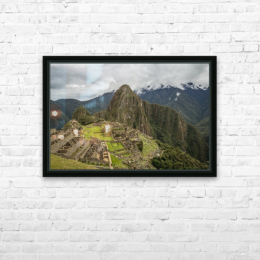 Machu Picchu HD Sublimation Metal print with Decorating Float Frame (BOX)