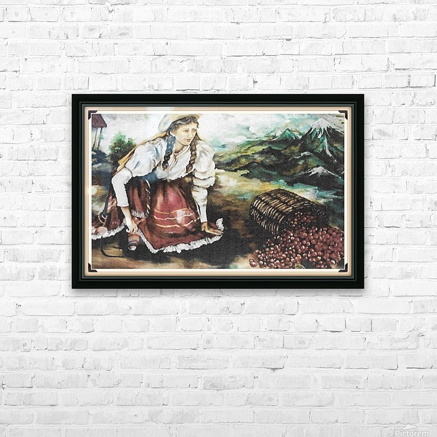 Harvesting The Coffee Beans  HD Sublimation Metal print with Decorating Float Frame (BOX)