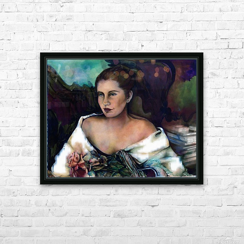 Spanish Lady With A Rose HD Sublimation Metal print with Decorating Float Frame (BOX)