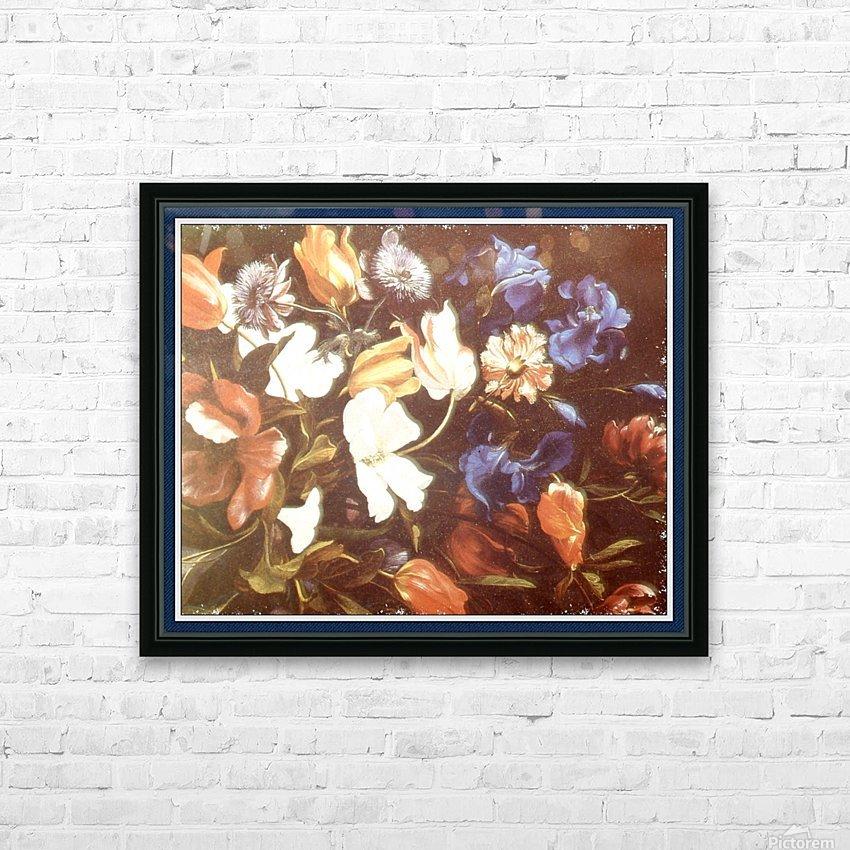 Brilliant Floral Display HD sublimation métal imprimé avec décoration flotteur cadre (boîte)