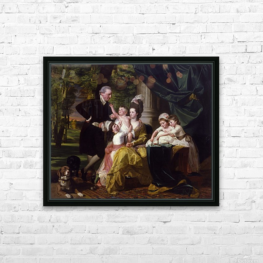 Sir William Pepperrell and His Family HD Sublimation Metal print with Decorating Float Frame (BOX)