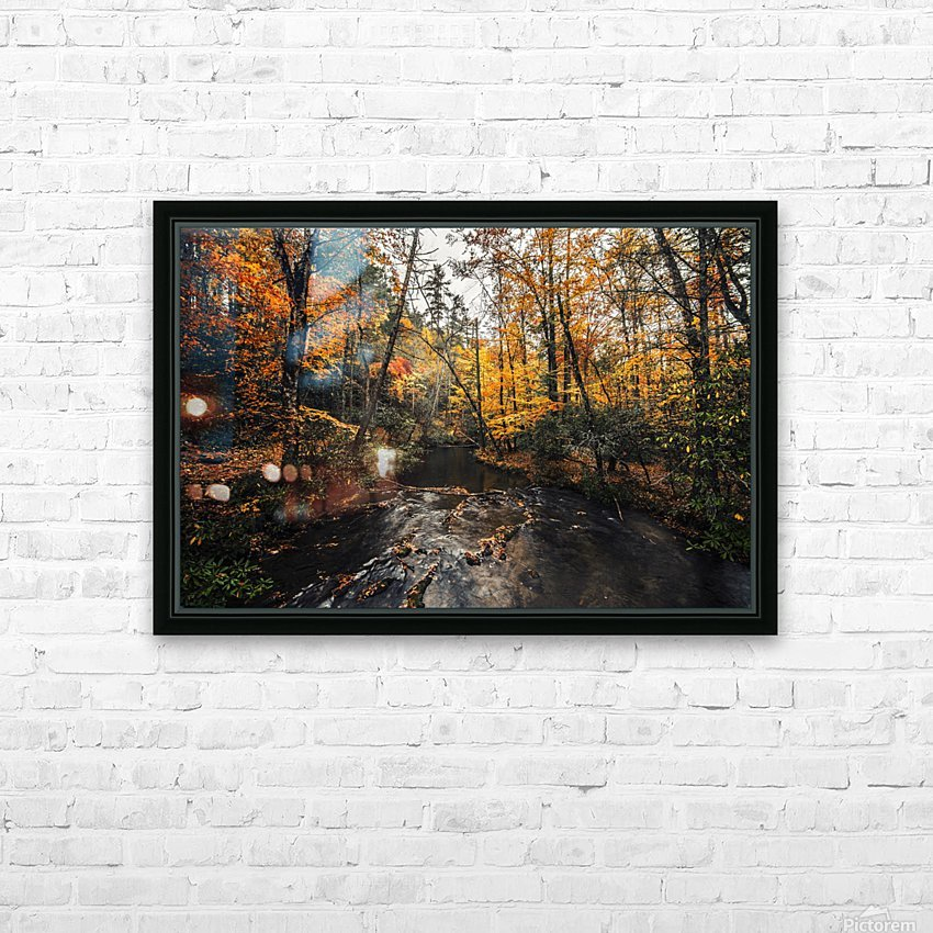 Smokey Mountain River HD Sublimation Metal print with Decorating Float Frame (BOX)