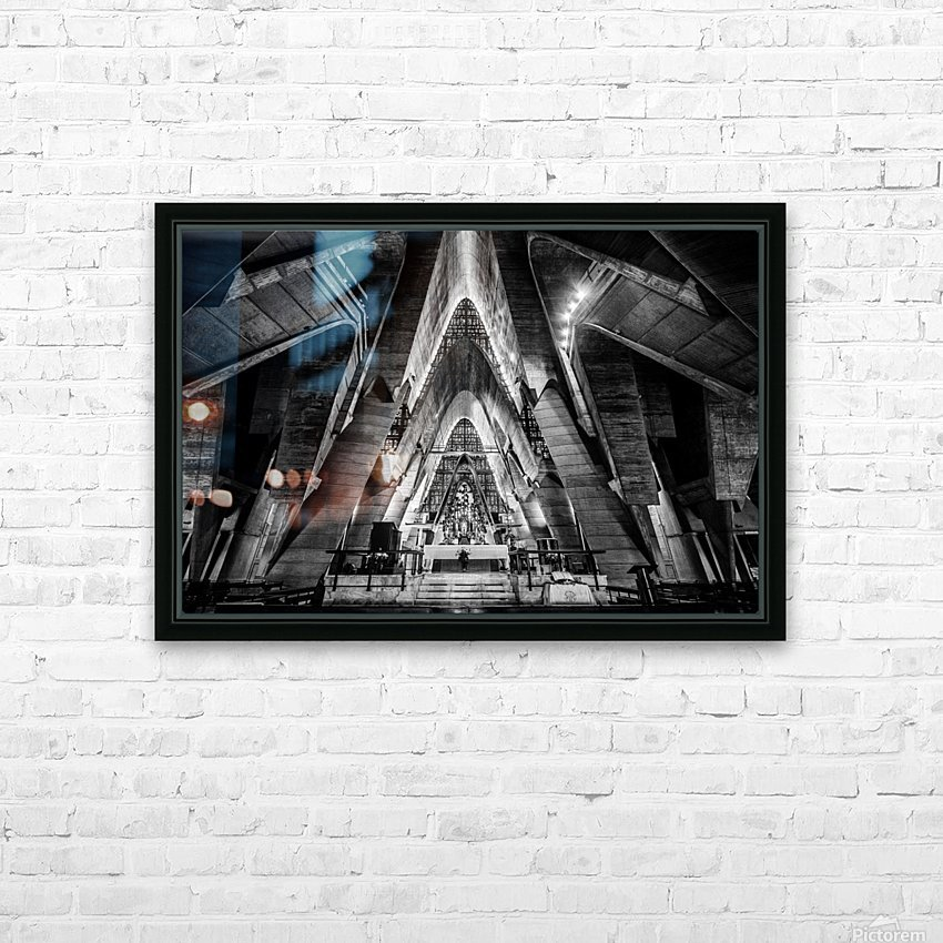 Cathedral HD Sublimation Metal print with Decorating Float Frame (BOX)