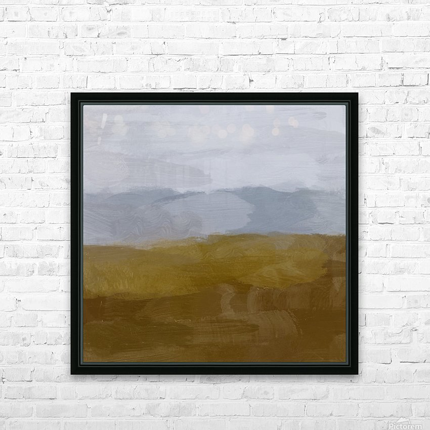 Yellow Hills HD Sublimation Metal print with Decorating Float Frame (BOX)