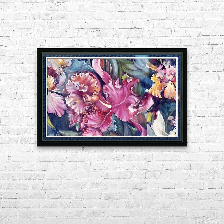 Orchids Blooming  HD sublimation métal imprimé avec décoration flotteur cadre (boîte)
