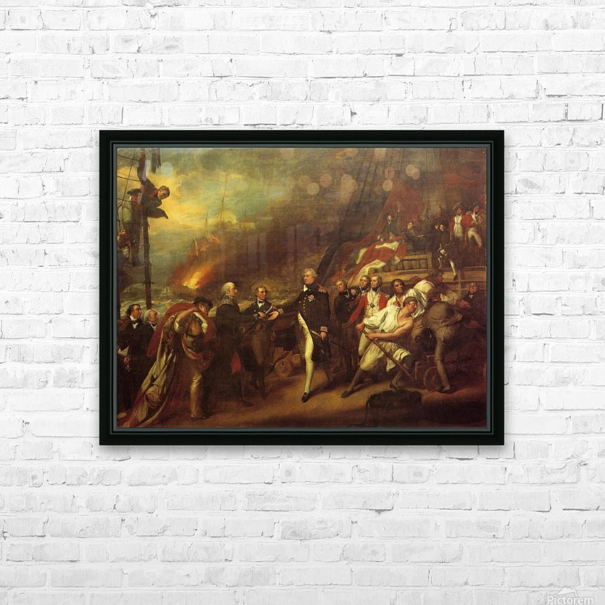 The Victory of Lord Duncan HD Sublimation Metal print with Decorating Float Frame (BOX)