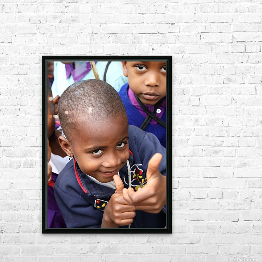 Thumbs Up HD Sublimation Metal print with Decorating Float Frame (BOX)