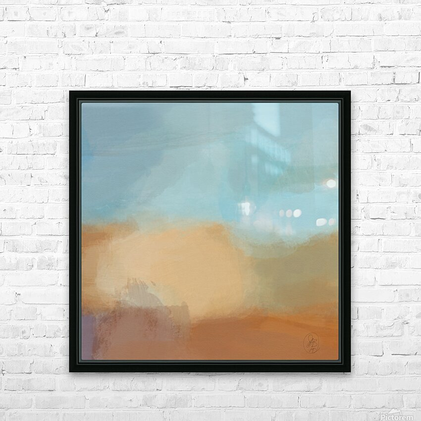 Turquoise and Copper Landscape HD Sublimation Metal print with Decorating Float Frame (BOX)