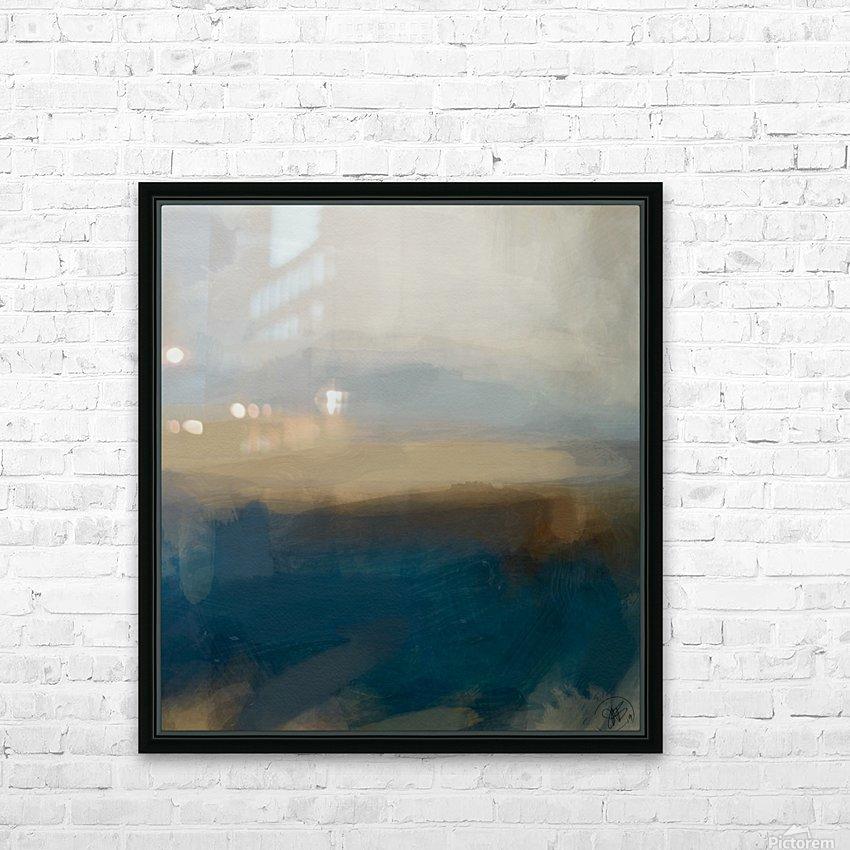 Lapis Blue Landscape HD Sublimation Metal print with Decorating Float Frame (BOX)