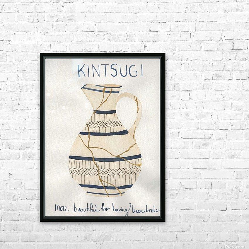 Kintsugi HD Sublimation Metal print with Decorating Float Frame (BOX)