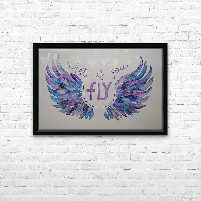 What if you fly  HD Sublimation Metal print with Decorating Float Frame (BOX)